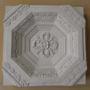 Cassettone in stucco decorato. Cassettoni: (Rif. 205)